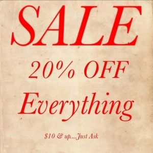 20% Off Everything !
